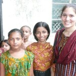 DCI Youth Volunteer Salma Siddique with Children in Bangladesh