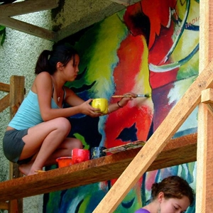 Give Paint for Murals at Preschool in Nicaragua