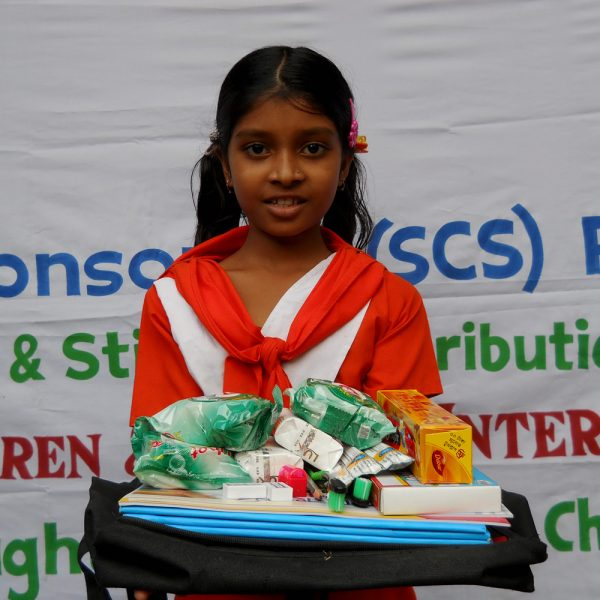 Give Hygiene Supplies to a Child in Bangladesh