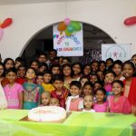SCH children and staff celebrate Dr. Hoque's birthday