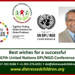 DCI Executive Director and Founder, Dr. Ehsan Hoque will attend the 67th United Nations DPINGO Conference
